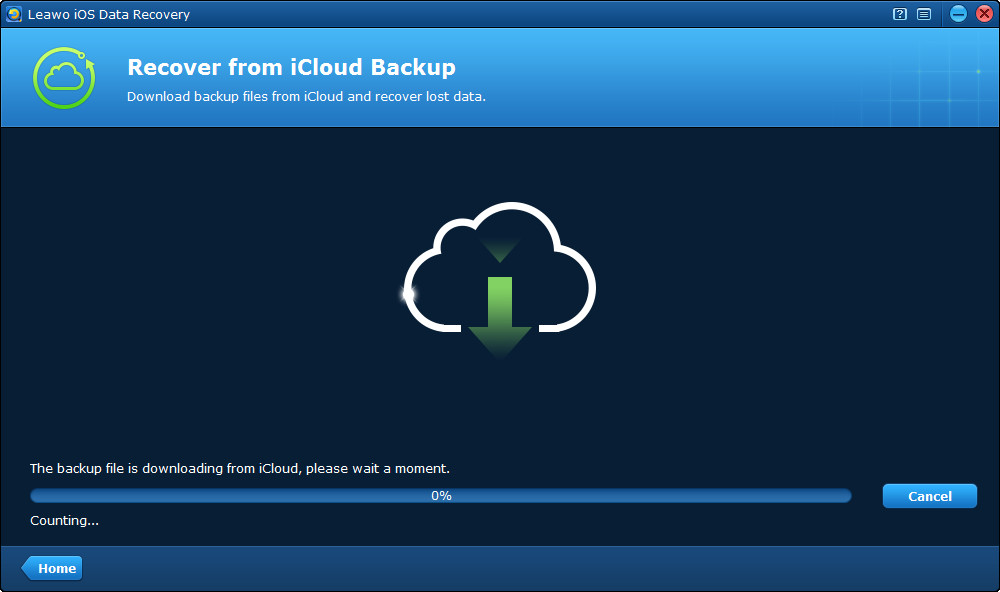 scan the iCloud backup