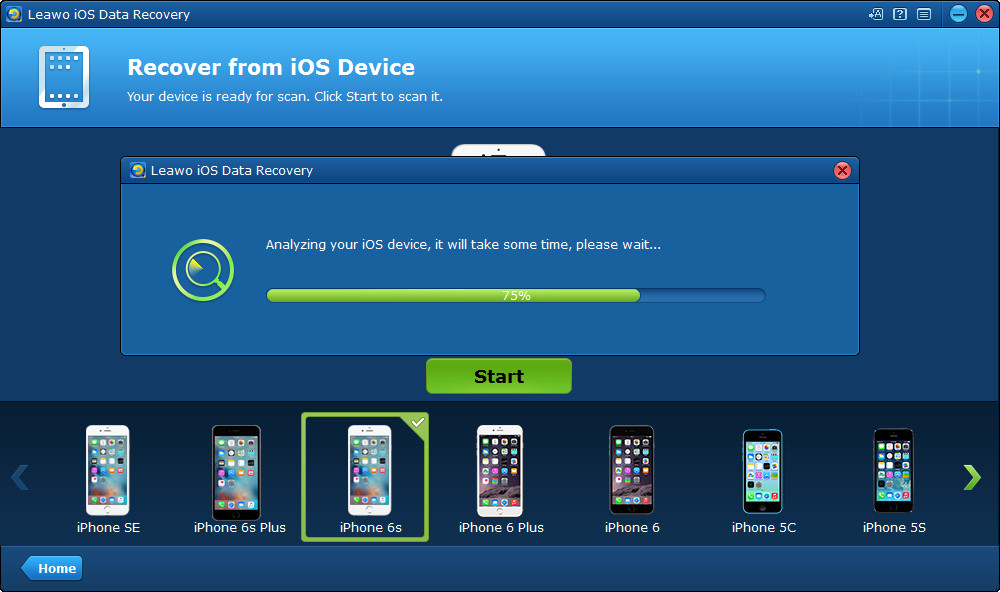 Run Leawo iOS Data Recovery