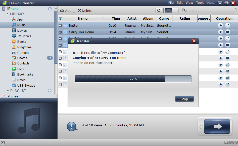 You are also able to transfer files from iphone to itunes after