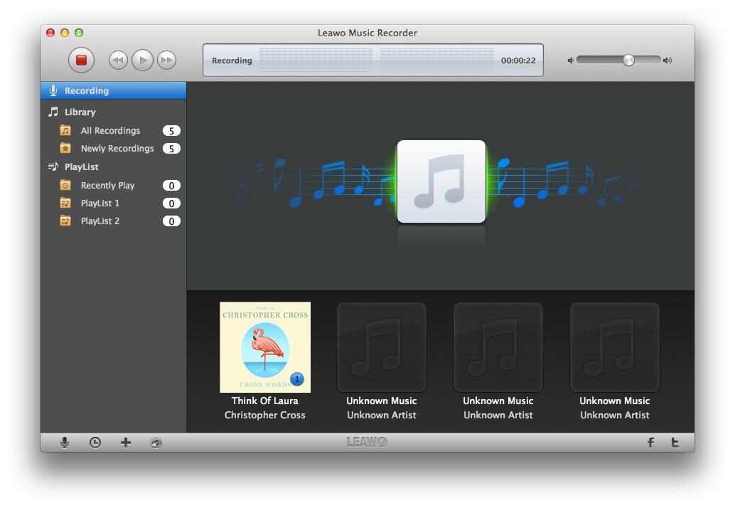 Leawo Music Recorder for Mac