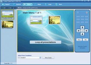 Create disc menu