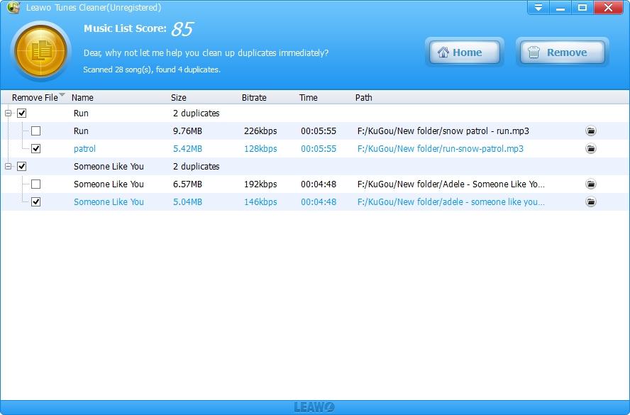how do i delete duplicates in itunes quickly