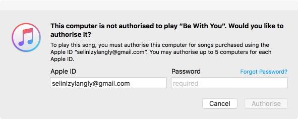 computer itunes autorisieren