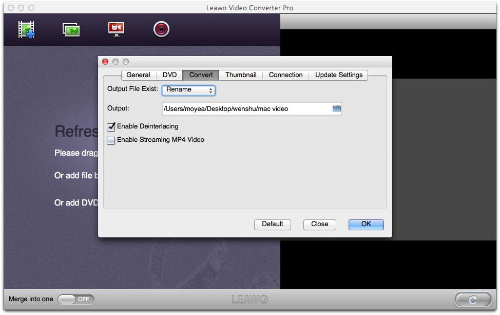 Leawo Video Converter Pro for Mac User Guide
