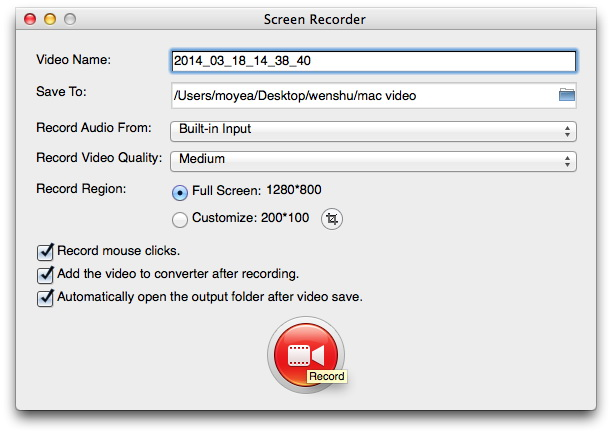 record screen mac