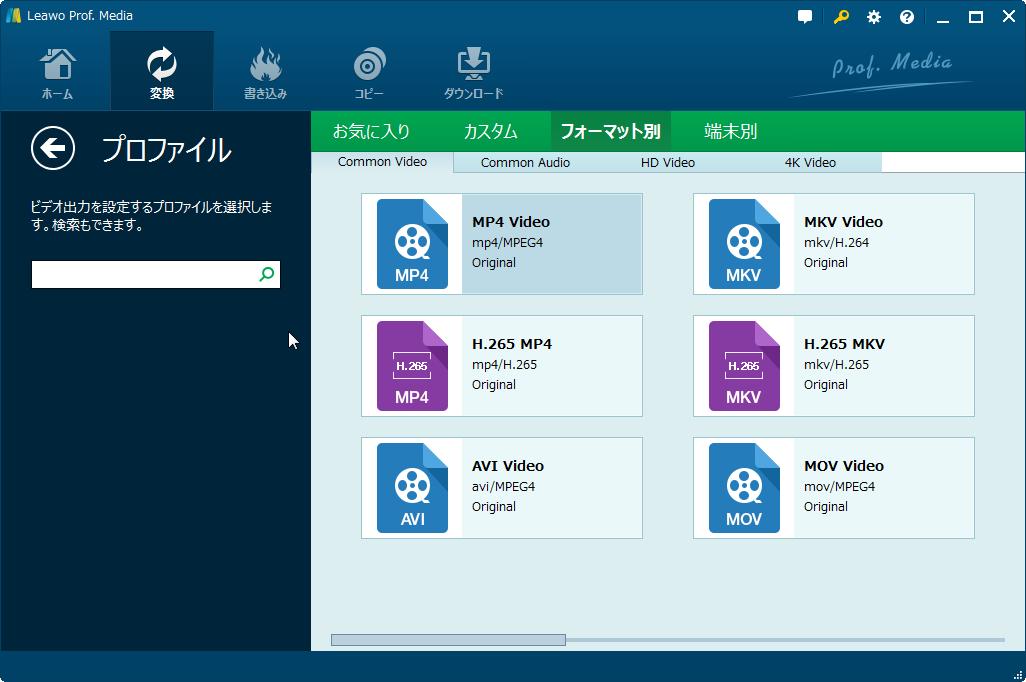 Set MKV Output Format