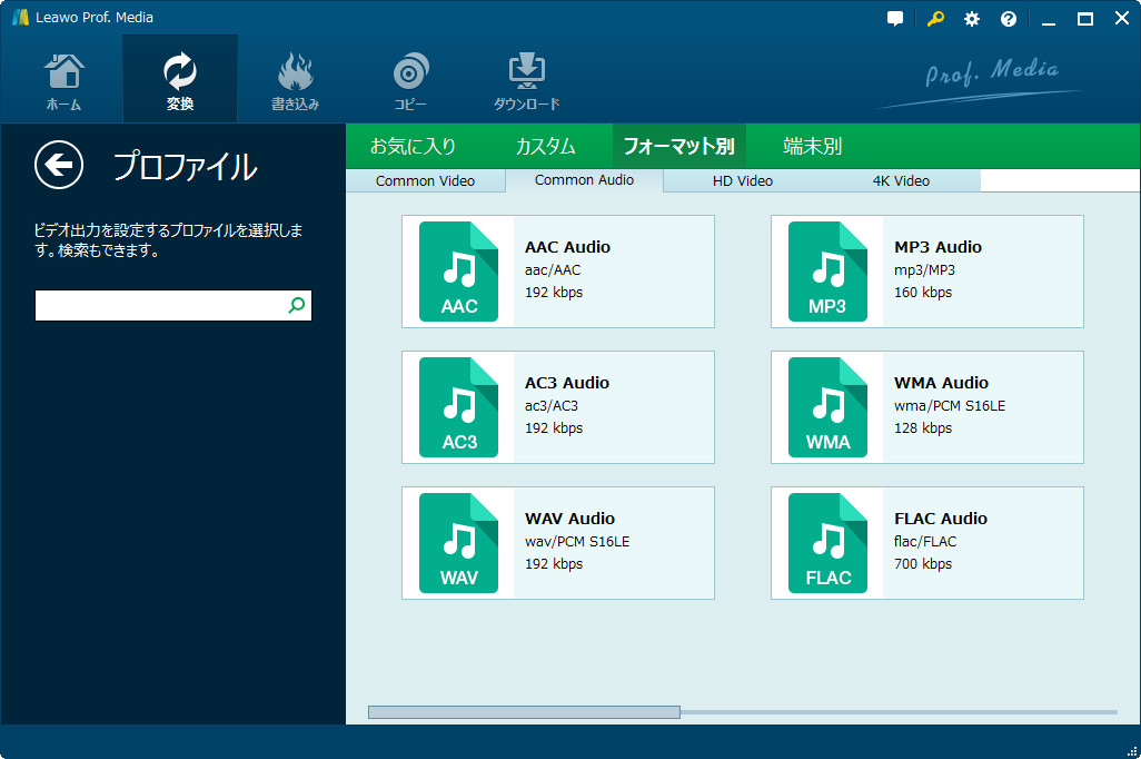 choose mp3 as output format