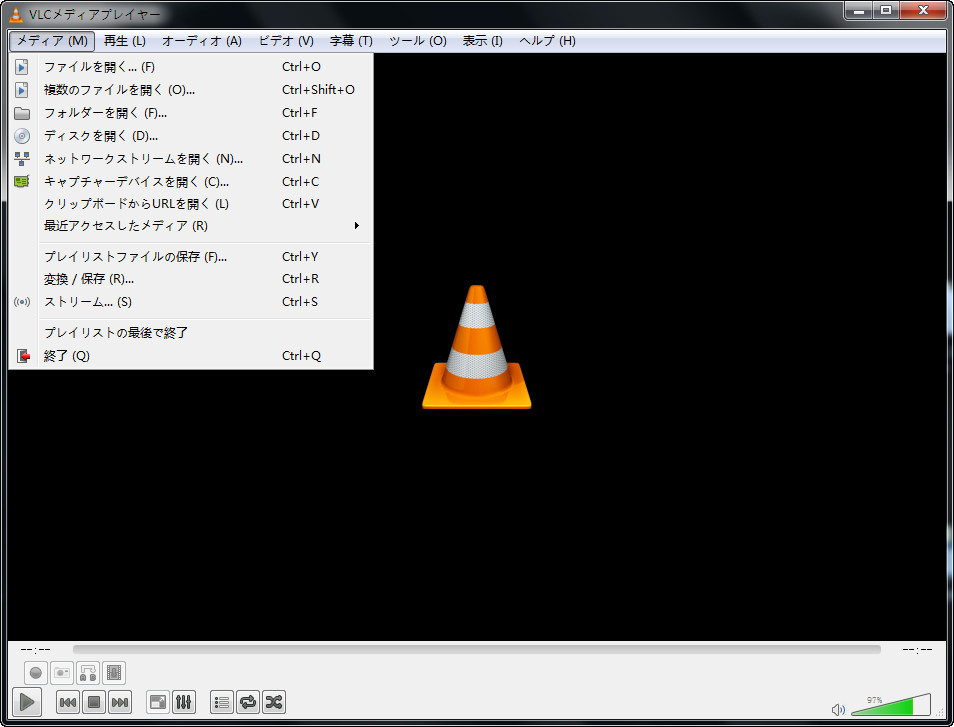 VLC-メニューバー