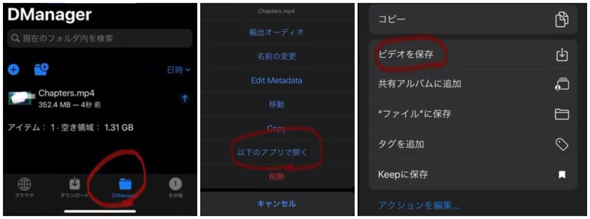 DManager FC動画保存