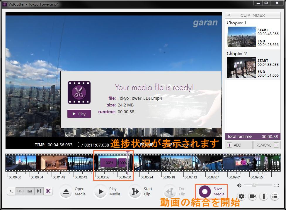 VidCutterの使い方-5