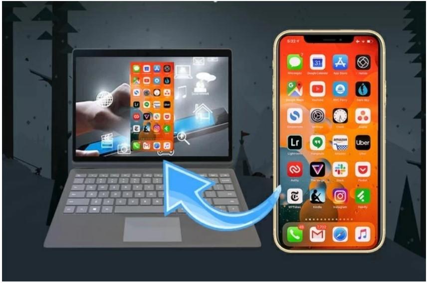 iPhone-PC-ミラーリング