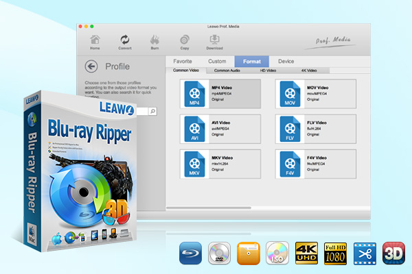 Leawo Blu-ray Ripper for Mac full screenshot