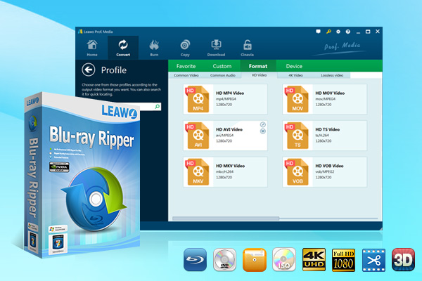 Leawo Blu-ray Ripper full screenshot