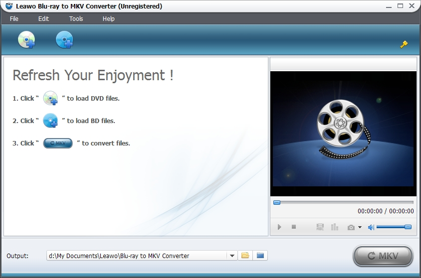 Click to view Leawo Blu-ray to MKV Converter 3.2.0.0 screenshot
