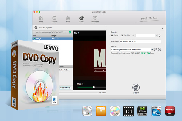 Leawo DVD Copy for Mac full screenshot
