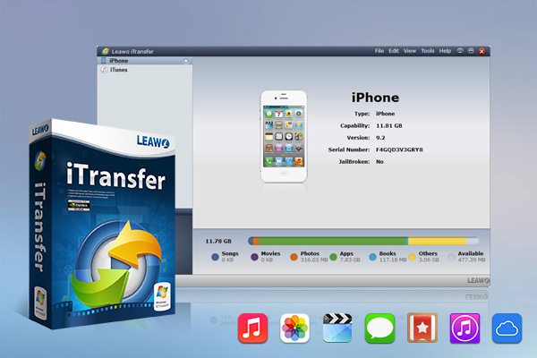 Leawo iTransfer is the combination of an iPod Transfer, iPhone Transfer and iPad Transfer which can transfer data among iOS devices, iTunes and computer. With it, users can copy data files from one Apple device to another device with ease.