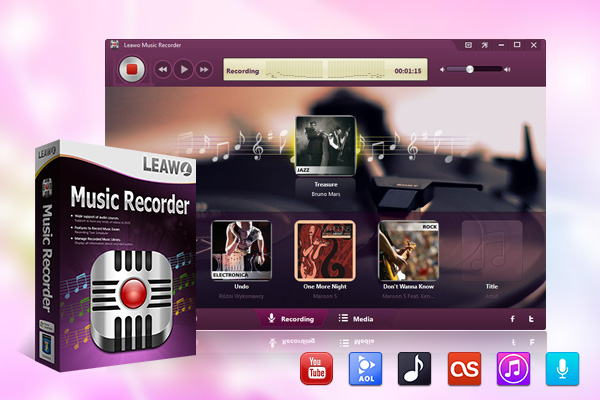 Leawo Music Recorder record any audio sources