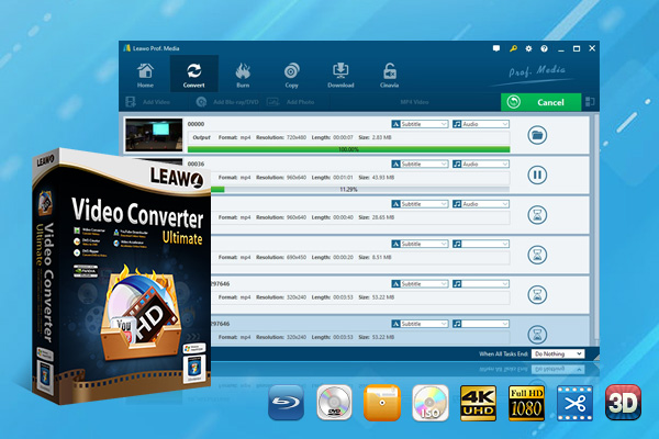 Click to view Leawo Video Converter Ultimate 7.6.0.0 screenshot